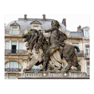 Carte Postale Statue de Bruxelles