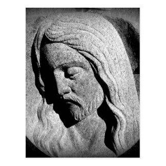 Carte Postale Statue de cimetière du Christ
