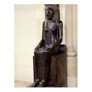 Carte Postale Statue de la déesse lion-dirigée Sekhmet