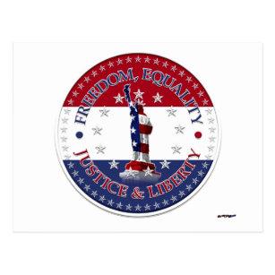 Carte Postale Statue de la LIBERTÉ de liberté, ÉGALITÉ, JUSTICE,