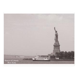 Carte Postale Statue de la liberté vintage New York