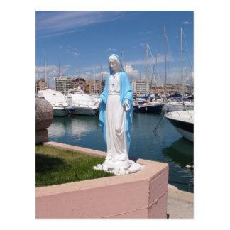 Carte Postale Statue de Vierge Marie