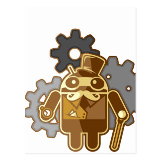 Carte Postale Steampunk Android