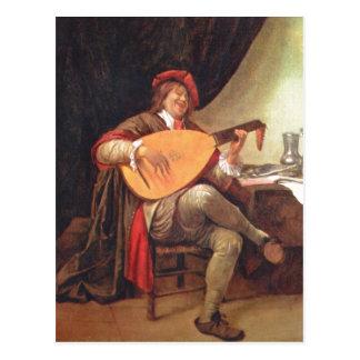 Carte Postale Steen, janv. Selbstportr ? SAL Violinenspieler 3.