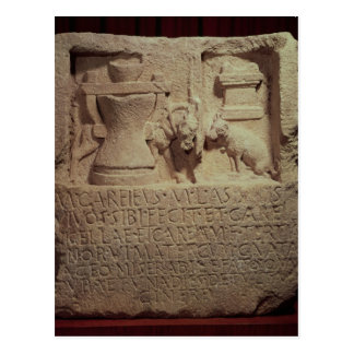Carte Postale Stele du miller Marcus Careius Asisa