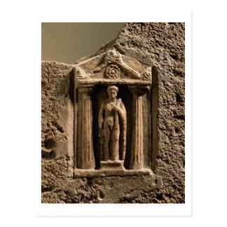 Carte Postale Stele votif de marbre et de grès avec le figu