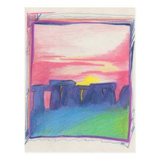 Carte Postale Stonehenge tiennent le premier rôle d'abord l'art