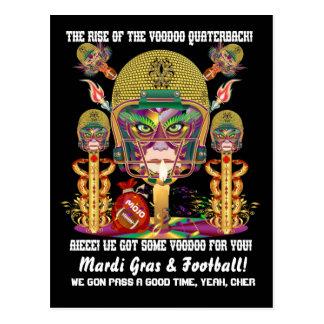 Carte Postale Stratège de vaudou du football de mardi gras