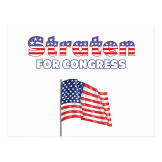 Carte Postale Straten pour le drapeau américain patriotique du