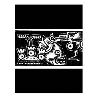 Carte Postale Style aztèque de Pré-Hispanique peignant C. 1925