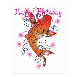 Carte Postale Style de Koi