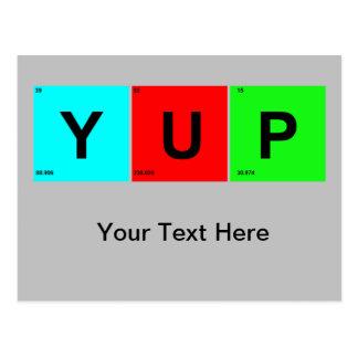 Carte Postale Style de Tableau périodique de YUP