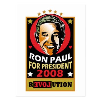 Carte Postale Style vintage Ron Paul