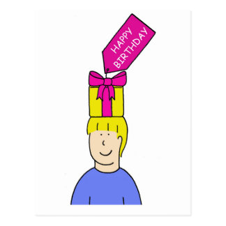Carte Postale Styliste en coiffure d'anniversaire de Hapy