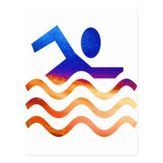 Carte Postale Succès de natation - esprit frais en périodes