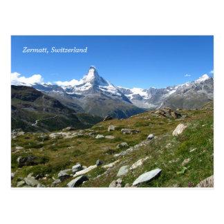 Carte postale suisse d'Alpes de Zermatt Matterhorn