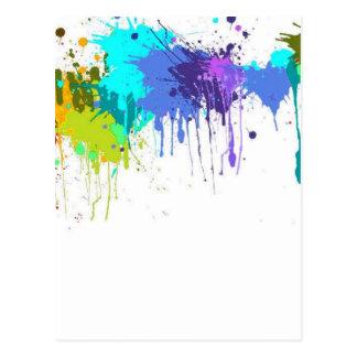 Carte Postale sujets d'éclaboussure de paintball