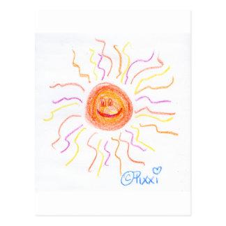 Carte Postale Sun heureux superbe