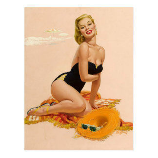 Carte Postale Sunbather PinUp