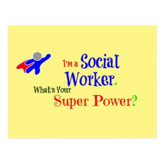 Carte Postale Super héros d'assistant social