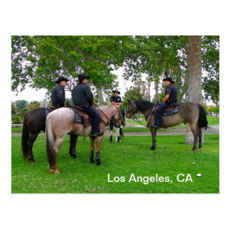 Carte postale superbe du cool LAPD !