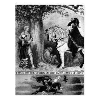 Carte Postale Sur un cheval pâle