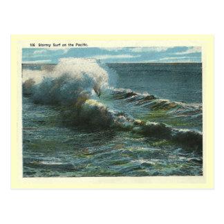 Carte Postale Surf Pacifique vintage