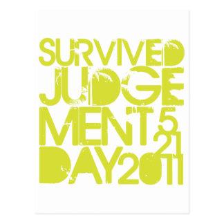 Carte Postale Survivant de Jour du jugement dernier