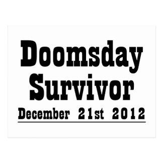 Carte Postale Survivant de jour du Jugement dernier le 21