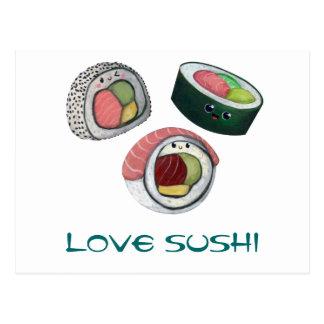 Carte Postale Sushi d'amour