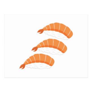 Carte Postale Sushi de crevette