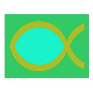 Carte Postale Symbole chrétien de poissons