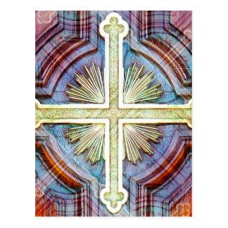 Carte Postale Symbole croisé chrétien religieux