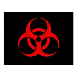 Carte Postale Symbole de Biohazard