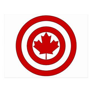 Carte Postale Symbole de bouclier de capitaine Canada