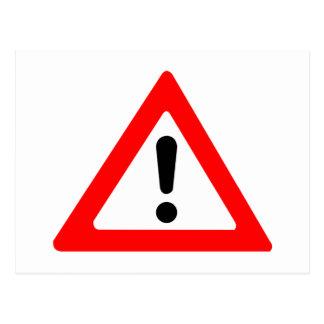 Carte Postale Symbole de triangle d'attention