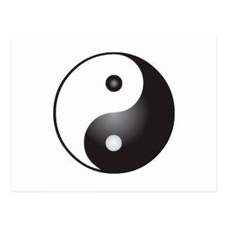 Carte Postale Symbole de Yin Yang :