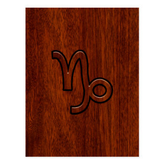 Carte Postale Symbole de zodiaque de Capricorne dans la copie