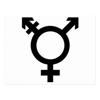 Carte Postale Symbole noir de transsexuel