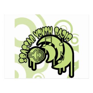 Carte Postale SYR s'égouttant le logo vert