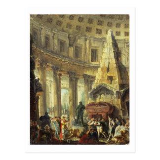 Carte Postale T28516 Alexandre le grand visitant la tombe du