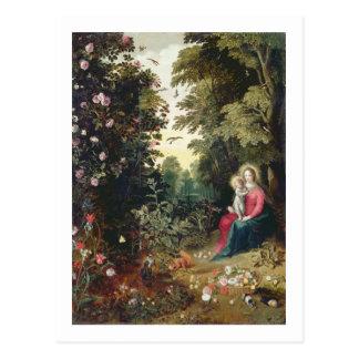Carte Postale T32789 Madonna et l'enfant dans un paysage