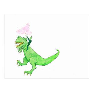 Carte Postale T-Rex de monte martien