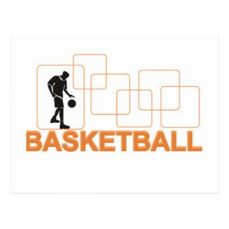 Carte Postale T-shirts et cadeaux de basket-ball de silhouette