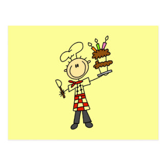 Carte Postale T-shirts et cadeaux de chef de pâtisserie