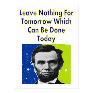 Carte Postale T-shirts et cadeaux de citation d'Abe Lincoln