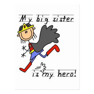 Carte Postale T-shirts et cadeaux de grande soeur de héros