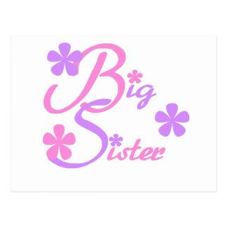 Carte Postale T-shirts et cadeaux de grande soeur de lavande et