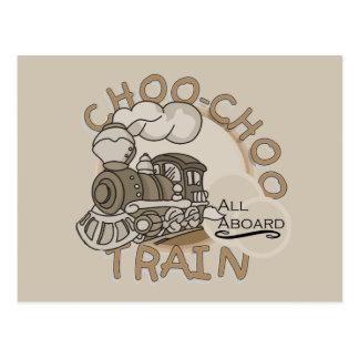Carte Postale T-shirts et cadeaux de train de Choo Choo