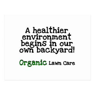 Carte Postale T-shirts et cadeaux organiques de soin de pelouse